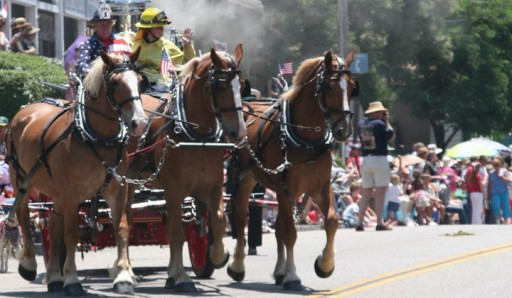 'Old Glory on Parade' at Julian's Annual 4th of July Parade