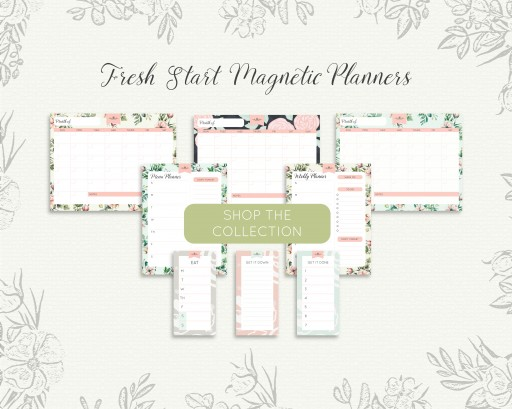 The Everblooming Home Reveals First Look at Newest Line of Eco-Friendly Magnetic Planners, the Fresh Start Collection