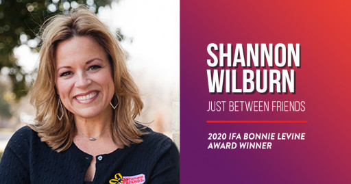 Just Between Friends CEO, Shannon Wilburn, Wins Bonnie LeVine Award at the 2021 International Franchise Association Convention