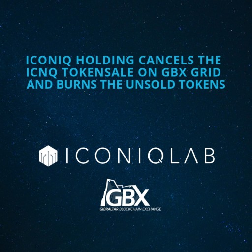Iconiq Holding Cancels The ICNQ Tokensale On GBX GRID And Burns The Unsold Tokens