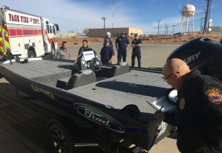 First Responder Signs Boat