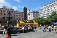 Volunteer Ministers tent in the heart of Oslo