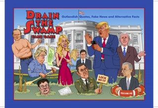 DRAIN THE SWAMP Card Game Cover Art