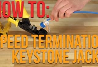 How to Use Speed Termination Keystone Jacks