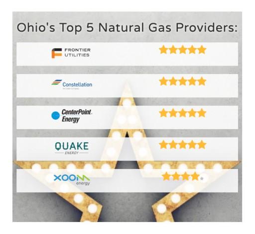 OHEnergyRatings.com Announces Top Ohio Natural Gas Companies