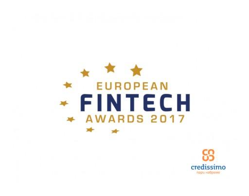 Credissimo - Contender for European FinTech Awards 2017's Title of 'European Innovator 2017'