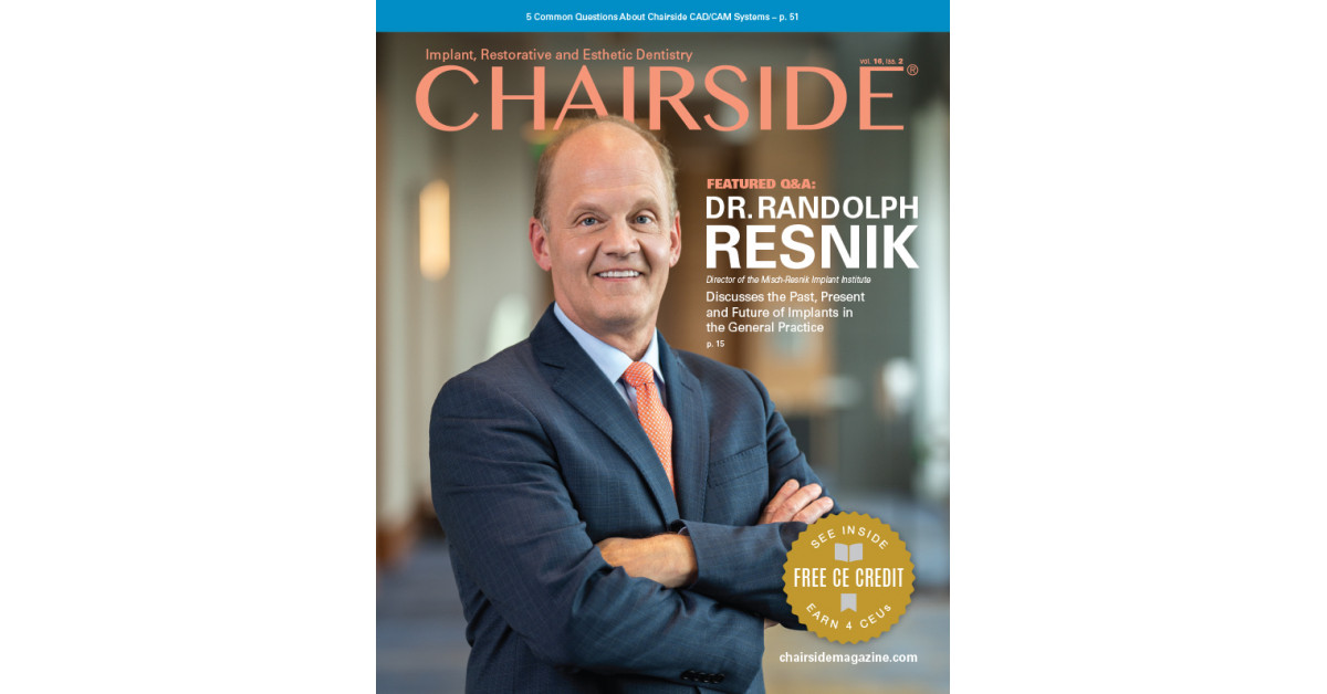 New Chairside® Magazine Issue Published by Glidewell Focuses on Implant, Restorative and Esthetic Dentistry