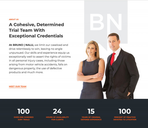 Bruno Nalu, a Leading Team of Trial Lawyers, Announces New Branding and Website Launch