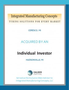 Integrated Manufacturing Concepts Sold