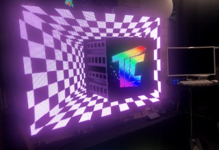 Moving Video Tiles Create Visual Surprise at Events and Exhibits