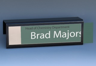 Cubicle Name Plate with Black Border