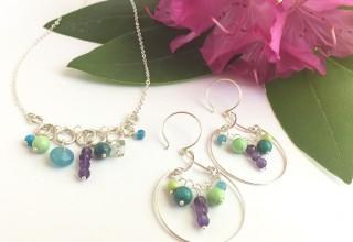 Jubilee Necklace and Earrings in Silver
