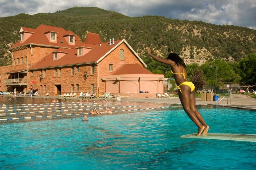 Glenwood Hot Springs - summer diver