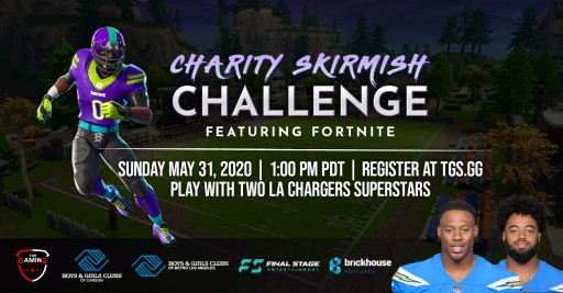 The Gaming Stadium, in Partnership With Uchenna Nwosu & Emeke Egbule of the Los Angeles Chargers, Present the Charity Skirmish Challenge, Featuring Fortnite