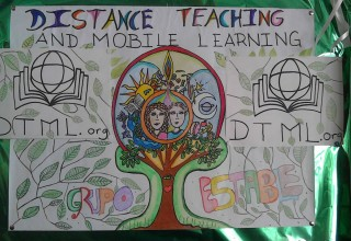 Distance Teaching and Mobile Poster created by Students in Merida, Venezuela