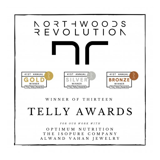 Northwoods Revolution Awarded 13 Different Telly Awards Including 1 for Production Company/Ad Agency Demo Reel in Branded Content in the 41st Annual Telly Awards