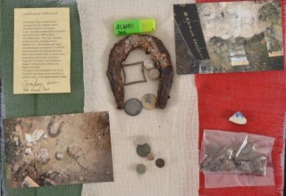 Collection of Relics from Alamo Battlefield