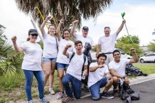 Members of The Way to Happiness Association of Tampa Bay joined in a cleanup of a stretch of the Pinellas Trail organized by the Clearwater Police Department.