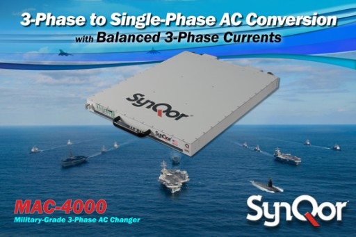 SynQor® Releases an Advanced Military Field-Grade 4 kW / 5 kVA AC Changer (MAC-4000)