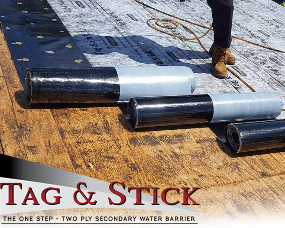 Tag Amp Stick Adhesive Roofing Underlayment Launches New