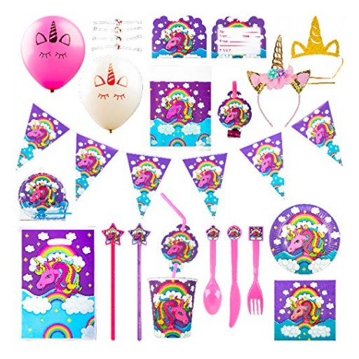 USA Toyz Announces New 163pk Unicorn Party Supplies Set in Their Exclusive Misty Mountain Unicorn Products Line