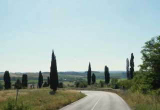 Ride through a Tuscan postcard on a July afternoon.