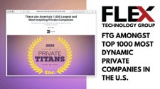 Flex Technology Group Ranked Among America's Top Private Companies on Inc.'s Private Titans of 2020 List