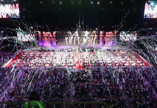 Stadium Streamers Create Huge Climax to Special Event