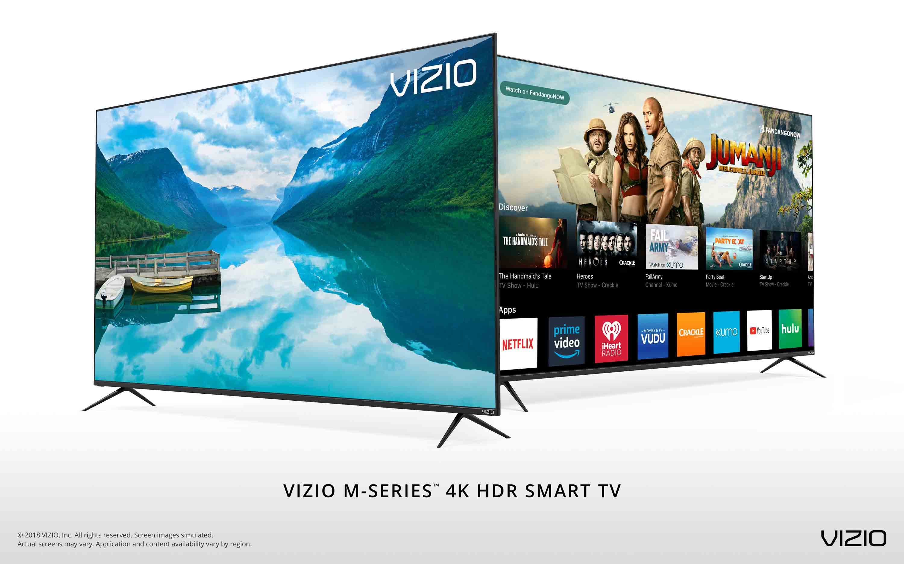 vizio launches all new 2018 m series 4k hdr smart tvs featuring step up picture quality and. Black Bedroom Furniture Sets. Home Design Ideas