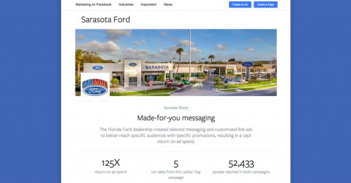 Sarasota Ford Featured as Newest Facebook Business Success Story
