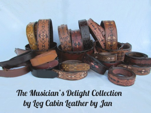 The Distinctive Musician's Delight Collection Created by Log Cabin Leather by Jan is Already Creating a Lot of Buzz.