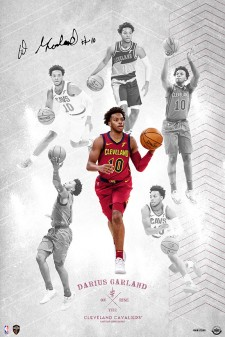 """Darius Garland Autographed """"On the Rise"""" exclusively from Upper Deck"""