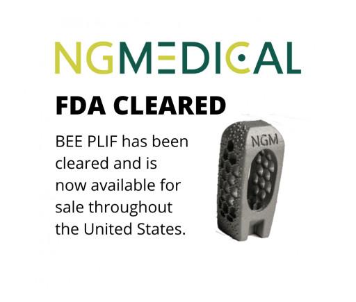 NGMedical GmbH Receives FDA Clearance for Its AM Titanium Lumbar Interbody BEE® PLIF