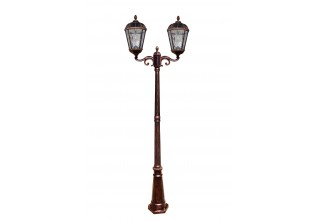 Royal Bulb Double Head Solar Lamp Post