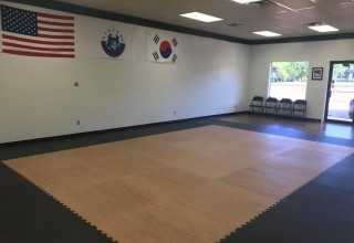 Texas Tang So Do with Woodgrain Martial Arts Mats