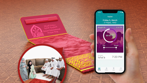 The First-Ever Smart Educational Prayer Rug for Muslims Exceeds Its Minimum Crowdfunding Goal by Over 200%