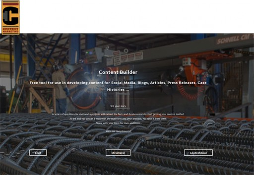 Marketing Firm Creates Two Tools for Developing Content for the Heavy Construction Industry
