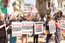 CCHR demonstration against psychiatric abuse
