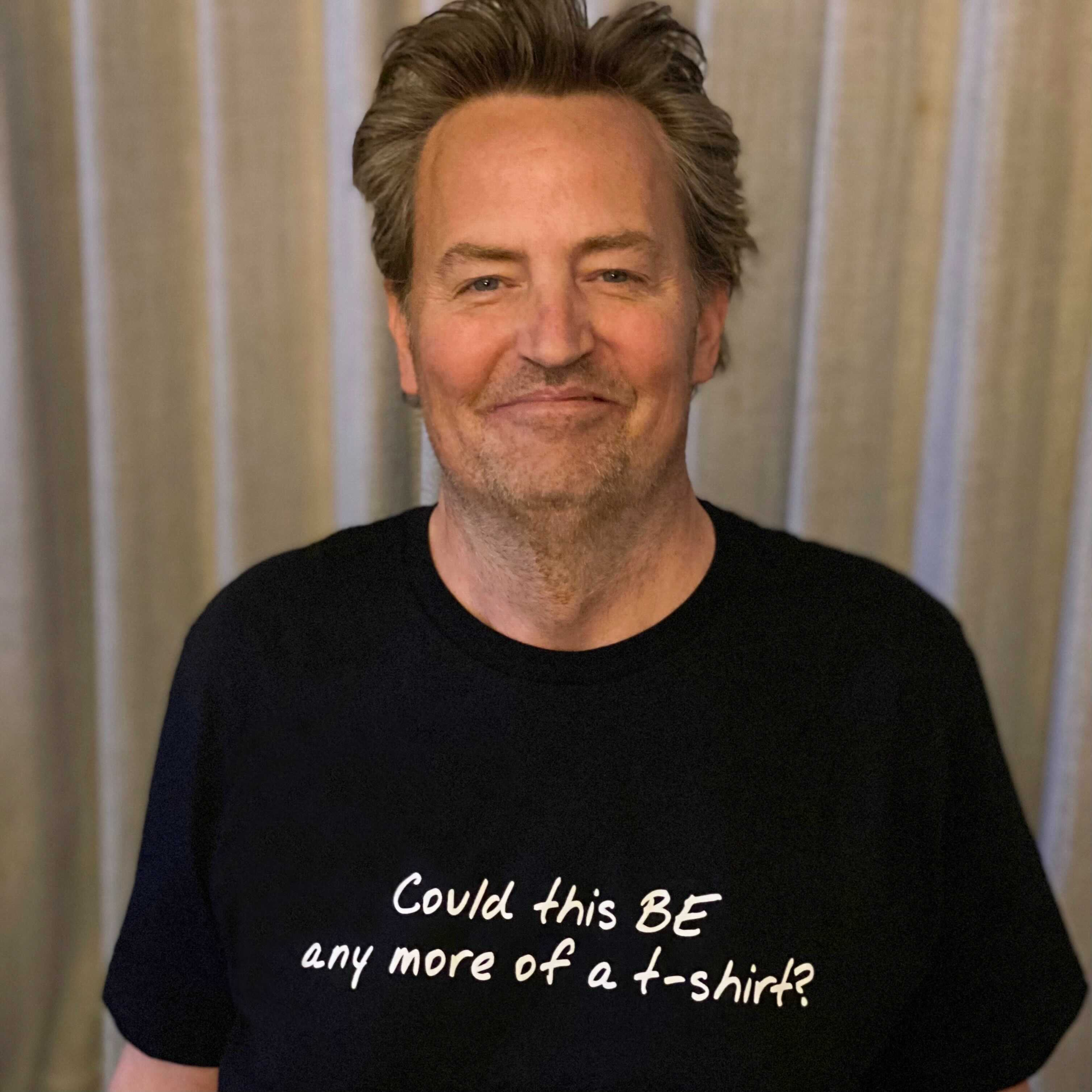 Matthew Perry launches a collection of clothes inspired by 'Friends'