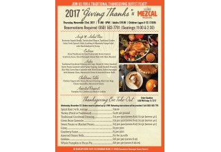 Mezcal Mexican Grill Thanksgiving 2017 Menu