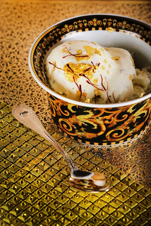 The Right Way to Eat Ice Cream is From a Golden Bowl