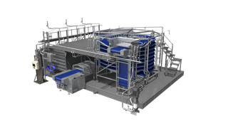 JBT CleanFREEZE Spiral Freezer with Clean-In-Place Technology