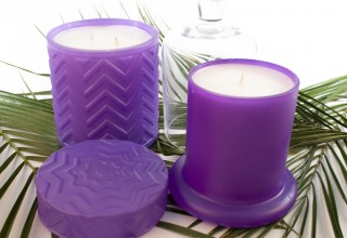 Luxury Glass Candles Lilac