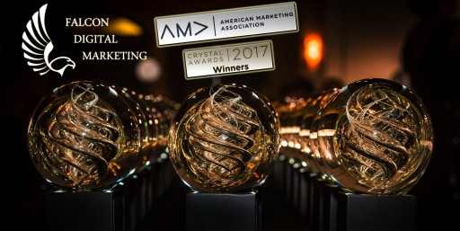 Falcon Digital Marketing Wins AMA 2017 Crystal Award for Online Marketing