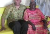 "Anthony ""Amp"" Elmore visits President Obama's grandmother Sarah Obama at her home in Kenya."