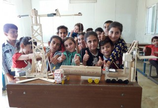 Iraqi students solve problems and learn how to create through the STEM program.