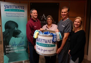 OrthoAtlanta Surgery Center Austell and Southern Medical Linen Service announce Sock Donation Program for Sweetwater Mission, Austell, Georgia