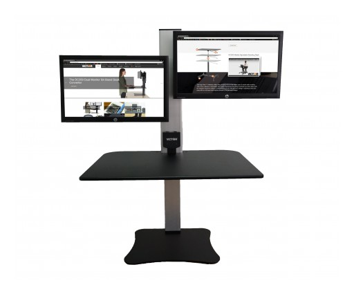 Victor Technology Raises Awareness of Standing Desk Converters During High Blood Pressure Education Month