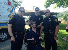 First Responders meet with local citizen