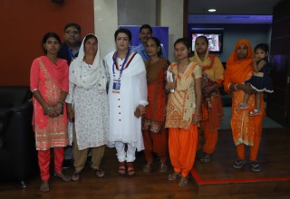 Sukarya Community Health Workers with its founder Ms. Meera Satpathy.